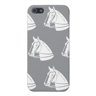 Horses Grey white iPhone SE/5/5s Cover