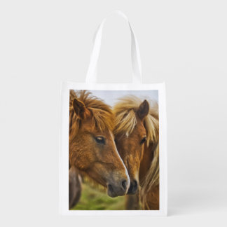 horses grocery bag