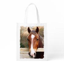 HORSES GROCERY BAG
