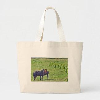 Horses Hanging Around Jumbo Tote Bag