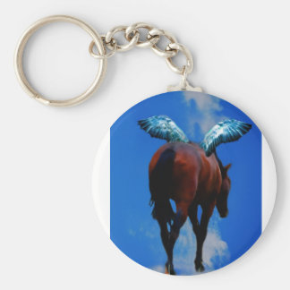 Horses have angels keychain