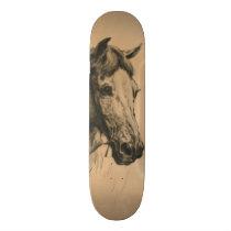 Horse's Head (by Heywood Hardy) Skateboard