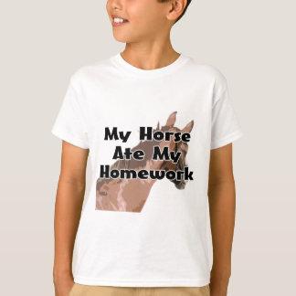 Horses Head - My Horse Ate My Homework T-Shirt