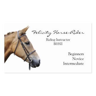 Horse's head on a plain background business card