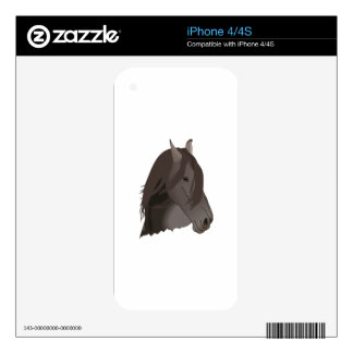 HORSES HEAD SKIN FOR THE iPhone 4