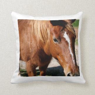 Horse's Head Tight Closeup Throw Pillow