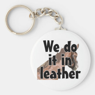 Horse's Head - We Do It In Leather Keychain
