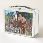 """Horses Headed Back To The Barn Metal Lunch Box<br><div class=""""desc"""">Great gift idea.</div>"""
