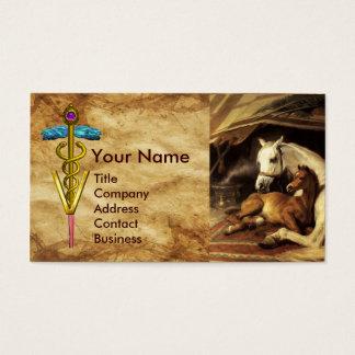 HORSES HINDQUARTERS CADUCEUS VETERINARY SYMBOL BUSINESS CARD