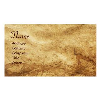 Horses' Hindquarters, Parchment Monogram Business Card