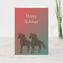 Horses Holiday Card