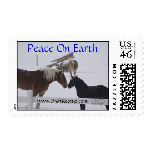 Horses Holiday First Class Stamp