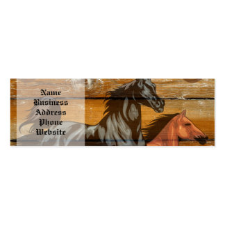 Horses Horseshoes Barn Wood Cowboy Double-Sided Mini Business Cards (Pack Of 20)