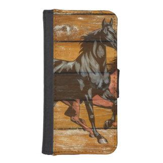 Horses Horseshoes Barn Wood Cowboy Phone Wallet Cases