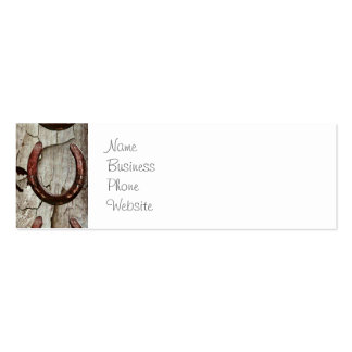 Horses Horseshoes on Barn Wood Cowboy Gifts Business Card Templates