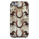 Horses Horseshoes on Barn Wood iPhone 6 Case