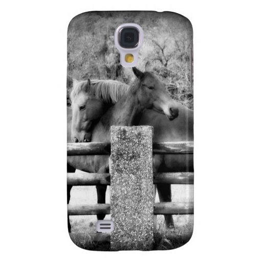 Horses Hugging - Equine Love in Black and White Samsung Galaxy S4 Cover