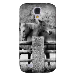Horses Hugging - Equine Love in Black and White Samsung Galaxy S4 Case