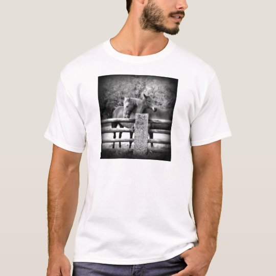 Horses Hugging - Horse Love Photograph T-Shirt