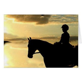 Horses - Hunter-Jumper - Overlook Greeting Card