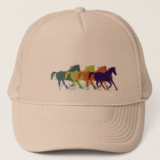 horses illustration trucker hat