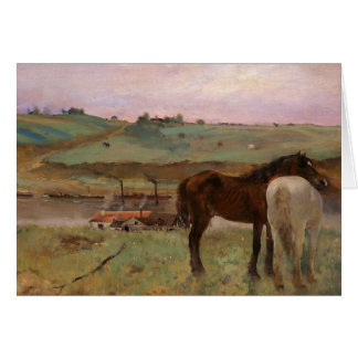 Horses in a Meadow Card