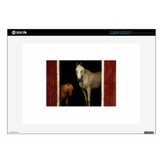 "Horses In A Red Barn 15"" Laptop Skins"