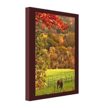 Horses in Autumn Canvas Print