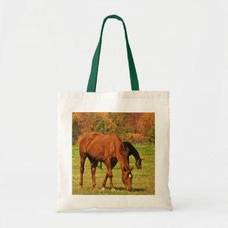 Horses in Autumn Tote Bag