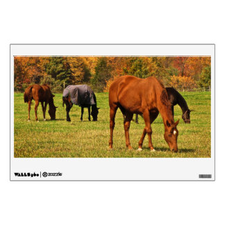 Horses in Autumn Wall Decal
