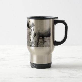Horses in Black and White 2 Photography Travel Mug
