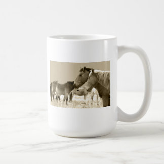 Horses in Black and white Coffee Mugs