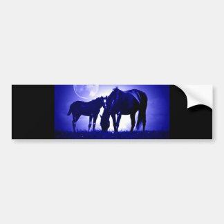 Horses in Blue Night Bumper Sticker