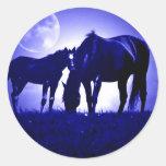 Horses in Blue Night Sticker