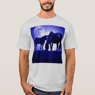 Horses in Blue Night T-Shirt