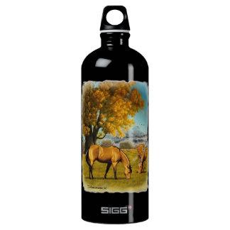 Horses in Fall Colors. Aluminum Water Bottle
