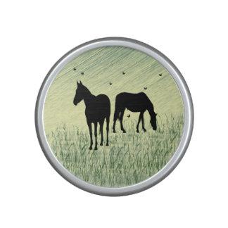 Horses in Field Bluetooth Speaker