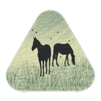 Horses in Field Bluetooth Speaker