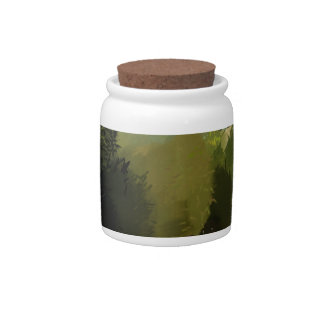 HORSES IN FIELD CANDY JARS