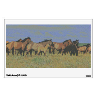 Horses in field wall decal