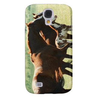 Horses in Field with Baby Colt Samsung Galaxy S4 Case