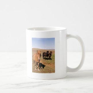 Horses in Krisuvik Classic White Coffee Mug