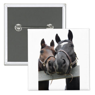 Horses in Love Button