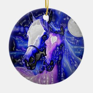 Horses in Love Ceramic Ornament
