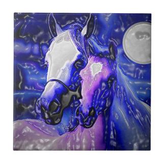 Horses in Love Ceramic Tile