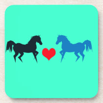 Horses in Love Cork Coaster
