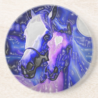 Horses in Love Drink Coaster