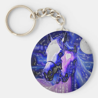 Horses in Love Keychain