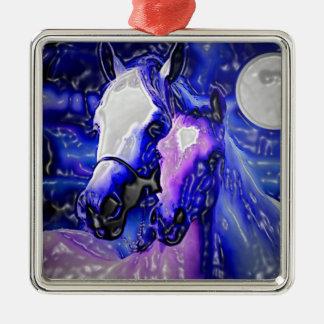 Horses in Love Metal Ornament