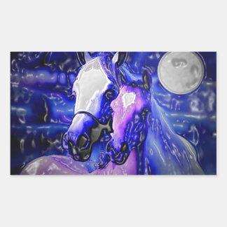 Horses in Love Rectangular Sticker